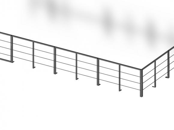 Modulares Geländer – Aufstellung